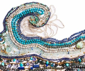 beads, gemstones, and wave image
