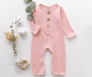 baby girl, jumpsuit, and comfortable image