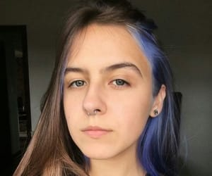 cabelo, piercing, and hair color image