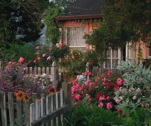 flowers, house, and aesthetic image