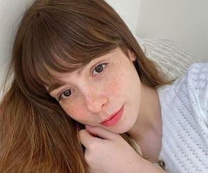 bangs, fringe, and freckles image
