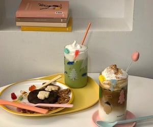 aesthetic, drinks, and matcha image