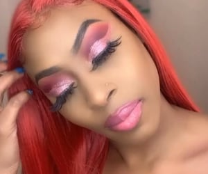 hair, redhair, and makeup image