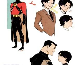 batman, bruce wayne, and red robin image