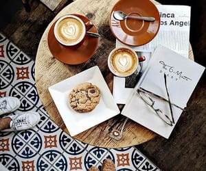 cake, coffee, and enjoy image