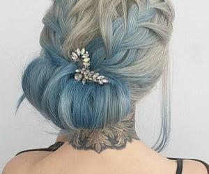 barrette, beauty, and blue image