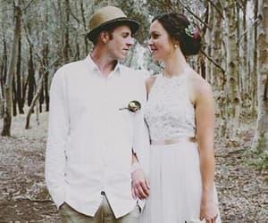 sleeveless, wedding dresses, and wedding gown image