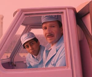 pink, movie, and the grand budapest hotel image