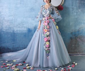 blue dress, clothes, and inspiration image