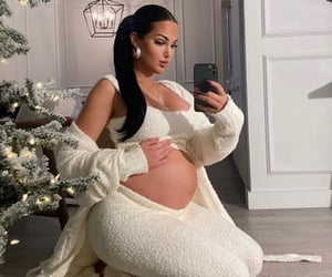 beautiful, glamour, and pregnancy image