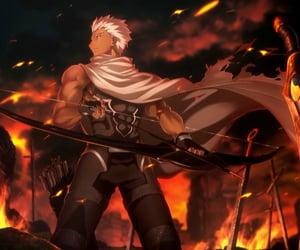 archer, arrow, and servant image