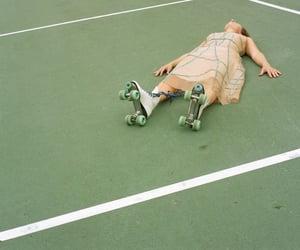 green, rollerskate, and skate image
