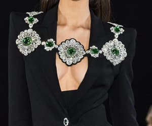 gown, jewellery, and London fashion week image