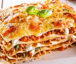 food and lasagne image