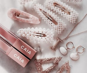 gold, pink, and caia image