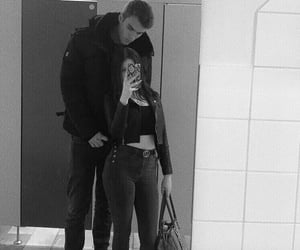 black and white, cute couple, and boyfriend image