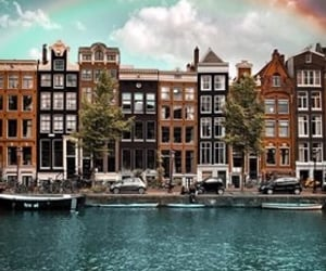 amsterdam, beautiful, and clouds image