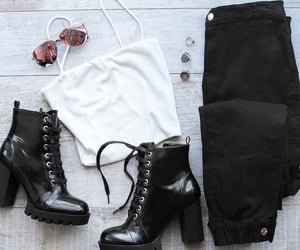 black&white, outfits, and top image
