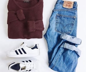 adidas, girls, and jeans image