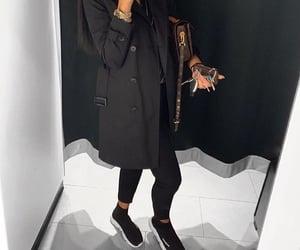 Balenciaga, all black, and beauty image