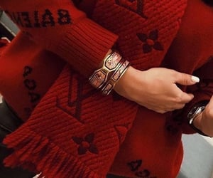red, Louis Vuitton, and nails image