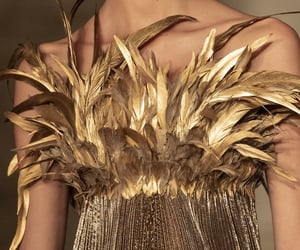 Couture, fashion, and gold image