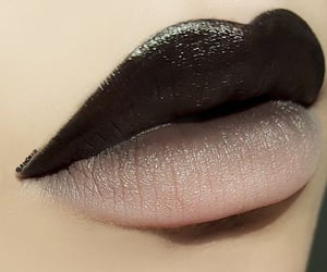 artistic make-up, ombre lips, and two-toned lips image