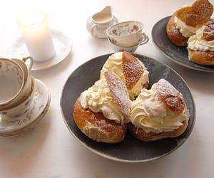 bread, cake, and cream image