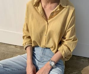 jeans, shirt, and women image