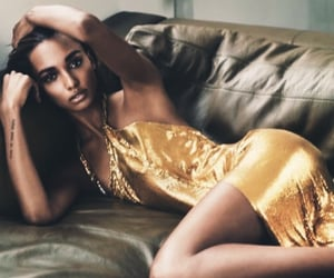 editorial, fashion, and gold dress image