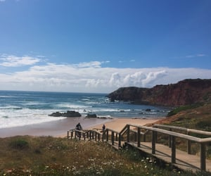 Albufeira, beach, and portugal image