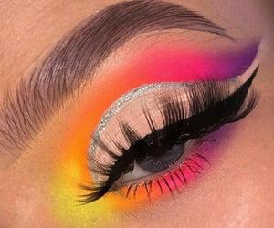 colorful makeup, eye, and eyeshadow image