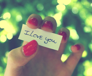 I Love You and pink image