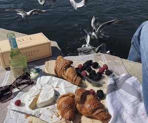 berries, cheese, and croissant image
