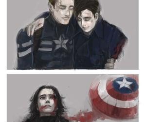 art, captain america, and steve rogers image
