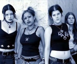 2000s, goth, and kittie image