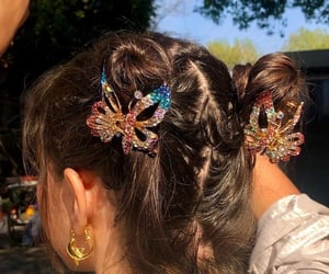 hair, butterfly, and accessories image