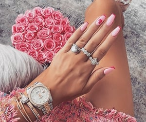 nails, pink, and jewelry image
