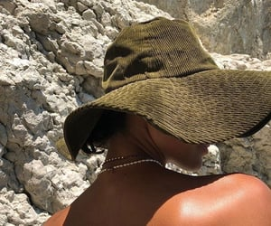 summer, aesthetic, and hat image