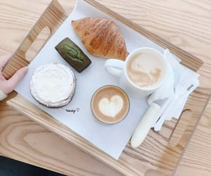 cafe, white, and coffee image