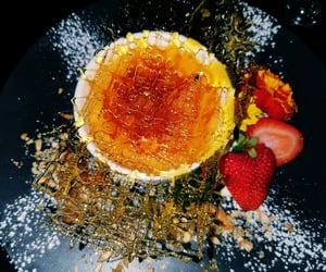 caramel, gluten free, and creme brulee image