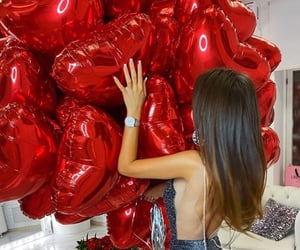 balloons, beauty, and model image