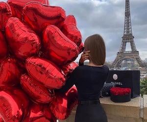 balloons, beautiful, and beautiful girl image