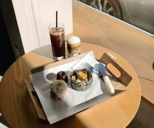 cafe, deserts, and iced coffee image