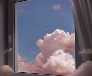 background, clouds, and moon image