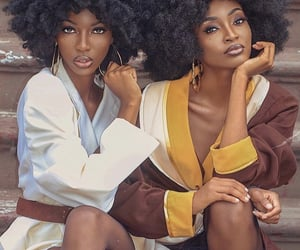 black women, natural hair, and stylish melanin image