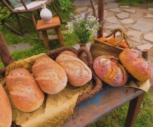 aesthetic, bread, and cottage image