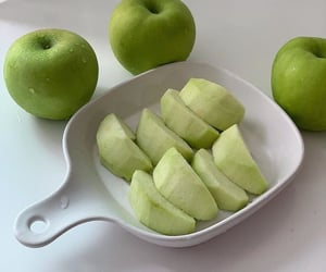 apple, food, and green image