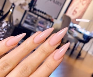 pinky stiletto nails image