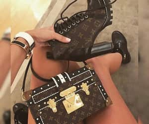 ankle boots, purse, and bag image